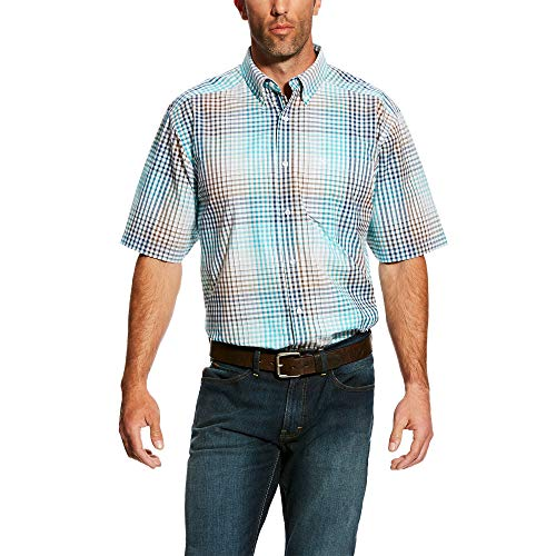 (ARIAT Men's Harby Ss Perf Shirt Multi Size XL)