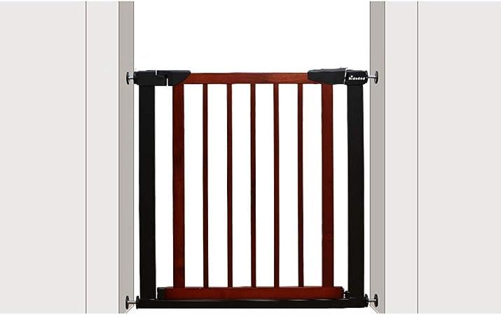 KSWD Madera Barrera de Seguridad para niños, 65-72cm, 75-82cm Niños Mascotas Bebé Puerta de la Escalera para Puertas Escaleras, Sin taladrar Extensible,Red,S: Amazon.es: Hogar
