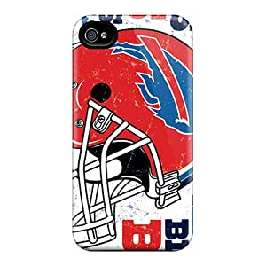 MansourMurray Iphone 4/4s Protector Cell-phone Hard Covers Unique Design Beautiful Buffalo Bills Pattern [Ycb5583npMC]