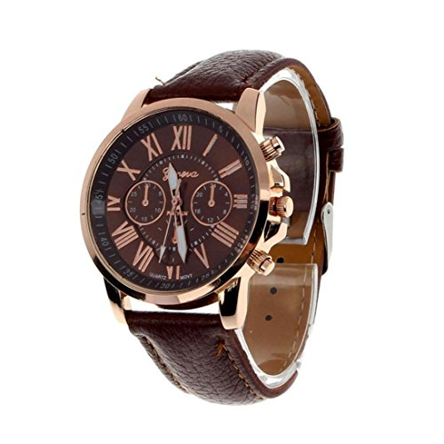 - FAPIZI Women Quartz Watch}✿Fashion/Geneva Roman Numerals{Faux Leather}Analog Quartz/Ladies Wrist Watch (Brown)