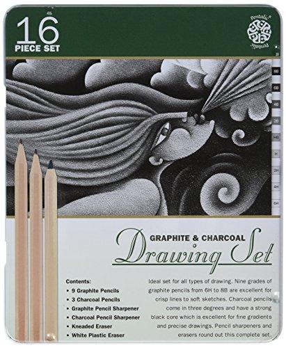 sketch draw pencil set - 6