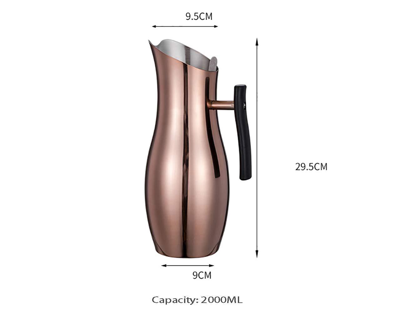 Cafetera francesa, sistema de filtración de 4 niveles, acero ...