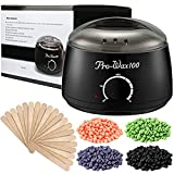 Hair Removal Wax Warmer Kit - Wax Warmer, ESARORA Hair Removal Waxing Kit Electric Hot Wax Warmer With 4 Different Flavors Hard Wax Beans Wax Applicator Sticks 20 Pieces Perfect for Home Waxing Spa for Face Arm Armpits Legs Bikini