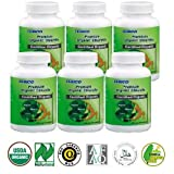 FEBICO Organic Chlorella Tablets 500mg. Set of 6. Broken Cell Wall Chlorella Tablets