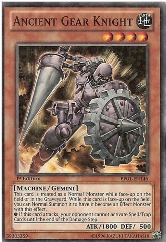 Gear Knight (BP01-EN146) - Battle Pack: Epic Dawn - 1st Edition - Starfoil Rare (1st Gear Set)