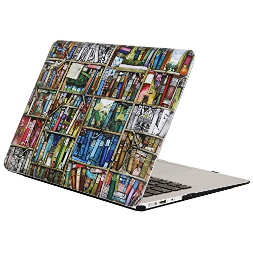 """YMIX  Plastic Cover Snap on Hard Protective Case for Macbook Pro 15"""" NO CD-ROM (A1398) , 01 Bookshelf"""