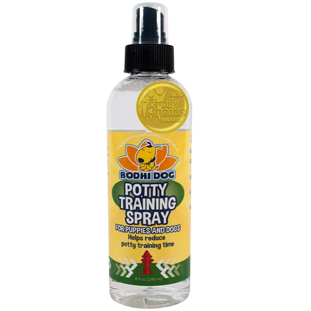 Bodhi Dog Potty Training Spray | Indoor Outdoor Potty Here Training Aid for Dogs & Puppies | Puppy Potty Training for Potty Pads | Made in USA | 8oz