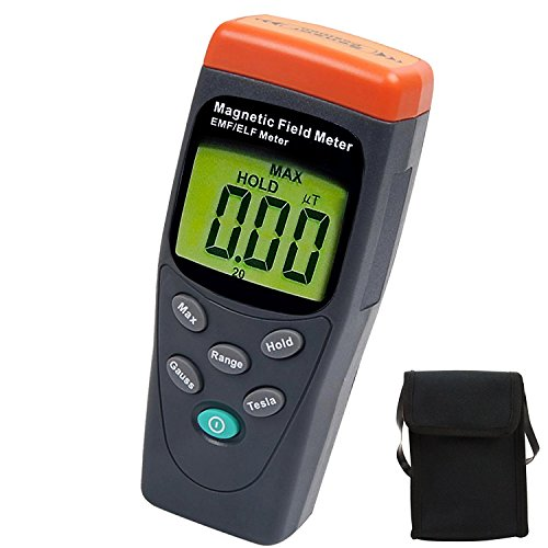 30Hz ~ 300Hz Multi-Field EMF ELF Meter Tester Single Axis Radiation Detector MAX HOLD 1999 max Reading by TekcoPlus