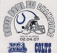 Indianapolis Colts Super Bowl XLI Champions Static Cling 3x4