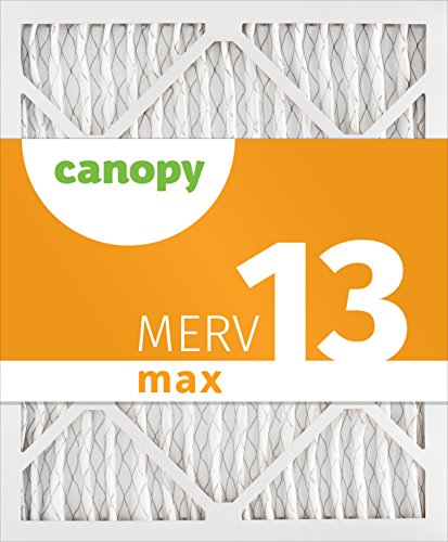 Canopy 16x28x1 MERV 13, Pleated Air Filter, 16x28x1, Box of 6, Made in the USA