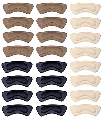 12 Pair Heel Pads for Shoes - Self-Adhesive Shoe Insoles Foot Care Protector, Heel Inserts Heel Shoe Grips Liner Anti Slip Shoe Cushion for Women and Men, One Size Fits All (Multicolor) ()