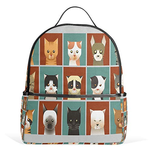 (Cat Collection Backpack School Bag College Student Daypack for Boys Girls )