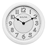 clocks with lighted dials - Bulova C4842 Versatile Stereo Bluetooth Wireless Speakers Indoor-Outdoor Lighted Dial Wall Clock, White