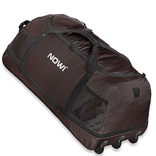 Nowi XXL Riesen Reisetasche mit 3 Rollen Volumen 100-135 Liter Rollenreisetasche 81 cm coffee brown