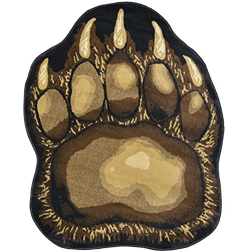 Cheap Bear Claw Rustic Lodge Paw Area Rug – Measures approximately 5'6 W X 6'10 L