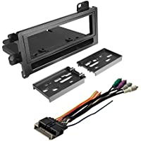 CAR RADIO STEREO CD PLAYER DASH INSTALL MOUNTING DASH KIT + WIRE HARNESS FOR SELECT CHRYSLER JEEP DODGE EAGLE PLYMOUTH VEHICLES