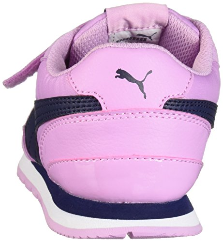 PUMA Unisex-Kids ST Runner NL Velcro Sneaker, Orchid-Peacoat, 2 M US Little Kid by PUMA (Image #2)