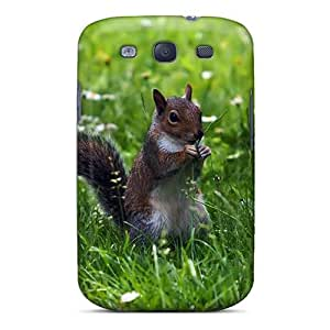 New Style Case Cover OiJSR7741vzrLZ Cute Squirrel In The Grass Compatible With Galaxy S3 Protection Case