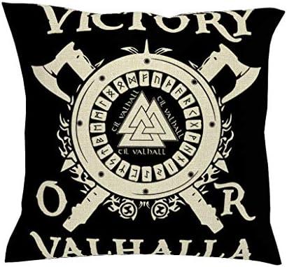 Cartel nórdico vikingo negro con dos ejes valknut escandinavo runa ...