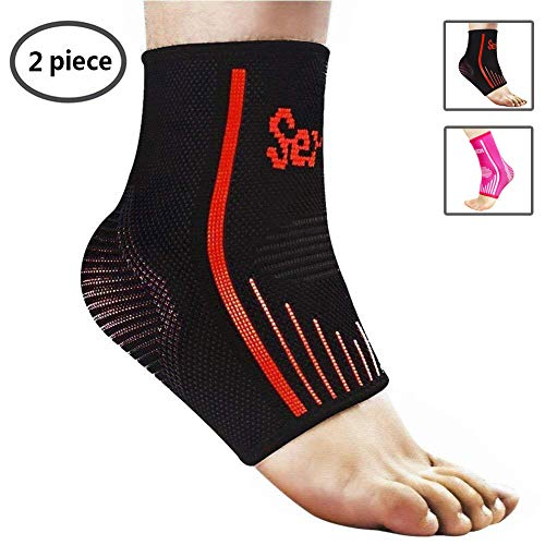 Senston Plantar Fasciitis Socks Compression Ankle Brace Support Foot Sleeves for Running Hiking Basketball Soccer Tennis Fitness – Provides Support and Ease Pains for Men and Women