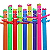 10ft Inflatable Tube Sky Puppet Tube Man Dancer Air Puppet Wind Flying Air Sky Tube Promotional Balloons Advertising Waver People (Sky Blue)