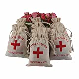 YaYiYo 10pcs Hangover Kit Bags Event Bachelorette Party Supplies Gift First Aid Wedding Favor Holder Bag