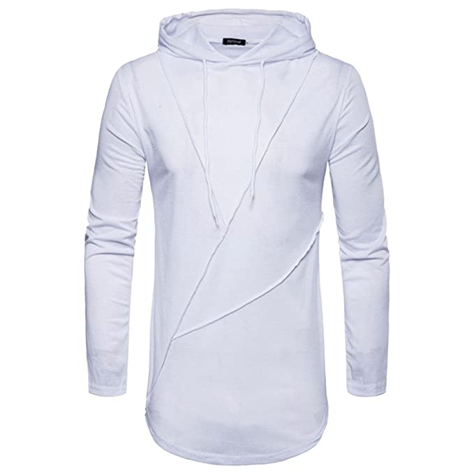 Cloom Herren Kapuzen T-Shirts Slim Fit Hoodies Langarmshirts  Kapuzenpullover Herren Schwarz Kurzarm V- 97f719e405