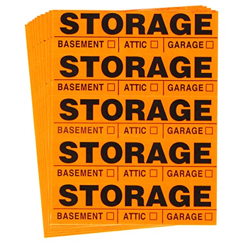 Tag-A-Room Color Coded Home Moving Box Labels (Storage)