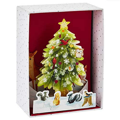 Tree Boxed Christmas Cards - Hallmark Paper Wonder Christmas Boxed Cards, Pop Up Christmas Tree (8 Cards with Envelopes)
