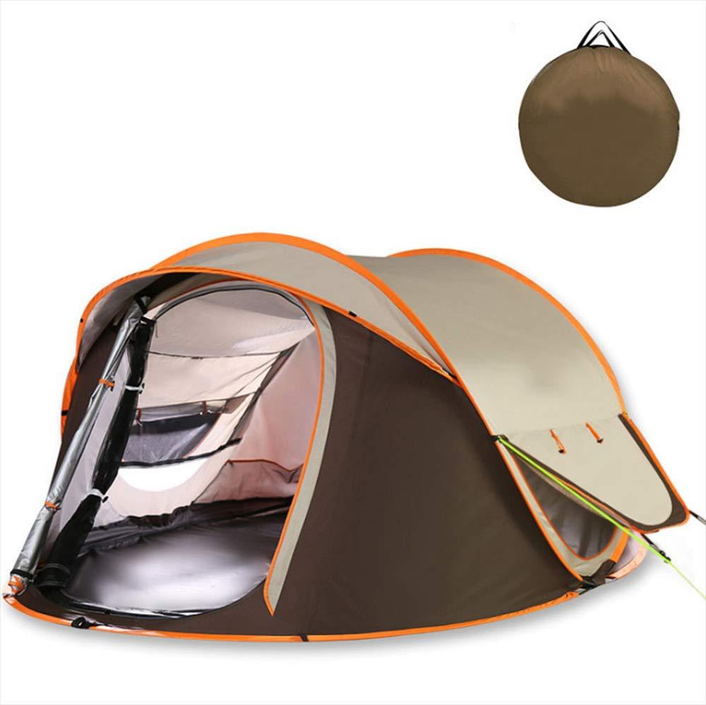 Keoa Outdoor-One-Touch-Zelt 3-4 Camping Personen Camping 3-4 Boden Doppel-Wasserdichtes Zelt Große Kapazität Leichte Wasserdichte UV-Strand Bad Strand Park Ist Sehr Geeignet,A f66262
