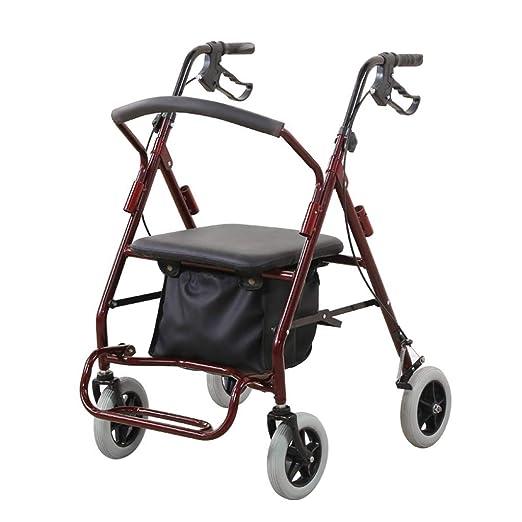 Andadores Caminador de Aluminio Plegable con Ruedas, Pedal de ...