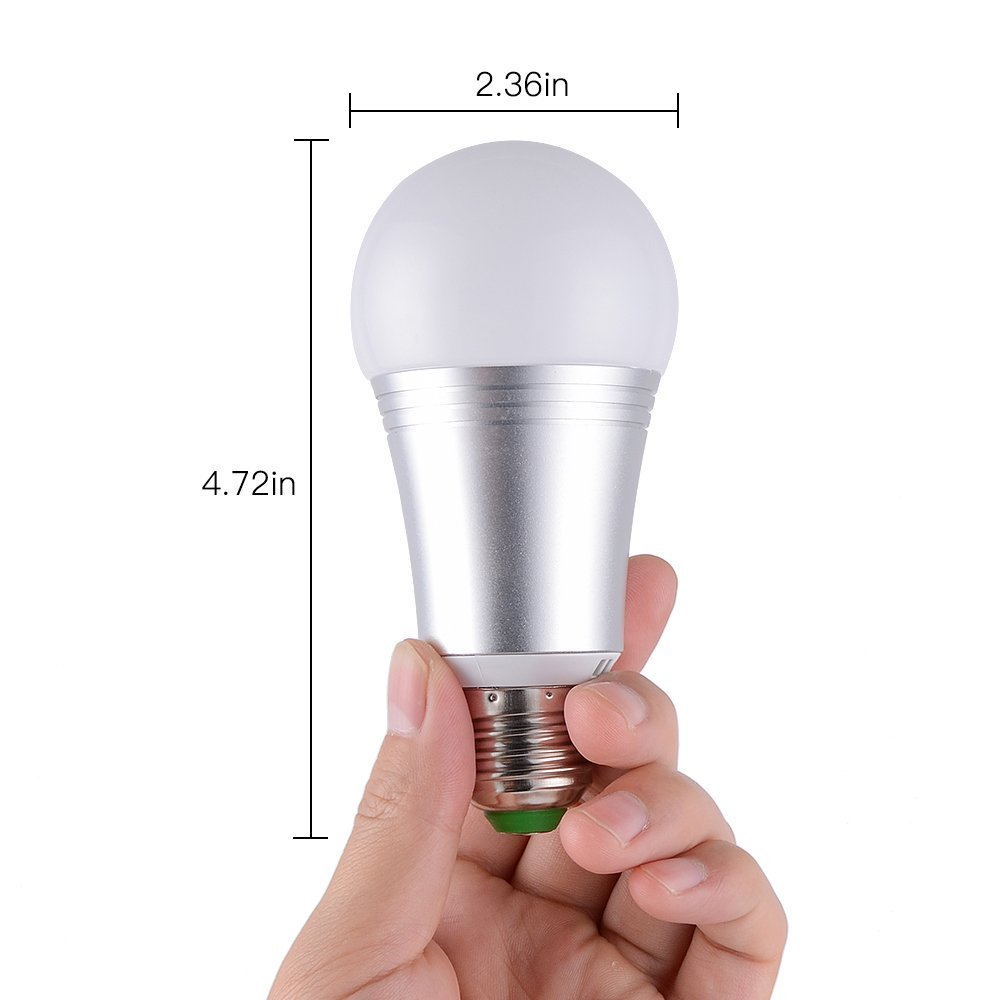 Smart Led Light Bulb, WiFi Smart Bulbs 6000K Dimmable Colored Smartphone Controlled Daylight White Night Light, No Hub Required, Works with Amazon Echo Alexa Google Home E27 A19 by Ausein (Image #7)