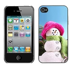YOYO Slim PC / Aluminium Case Cover Armor Shell Portection //Christmas Holiday Snow Woman 1277 //Apple Iphone 4