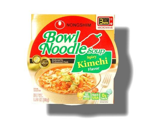 Nongshim Bowl Instant Noodle Soup Assorted Flavors (Spicy - Kimchi Soup