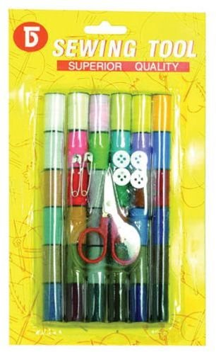 59 Piece Sewing Kit with Colored Thread 96 pcs sku# 1784443MA by DDI