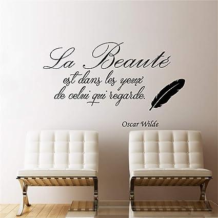 Stickers Muraux Cuisine Rouge La Beauté Est Dans Les Yeux De Celui Qui Regarde Pour Le Salon Chambre