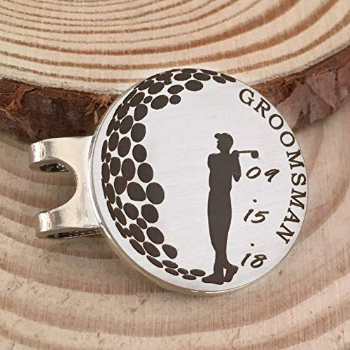 Amazon.com: Groomsman Golf Ball Marker Custom Wedding Party Gift - Includes Wedding Date and Magnetic Hat Clip: Handmade