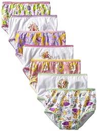 Disney Little Girls\'  7 Pack Tangled Underwear, Assorted, 2T/3T