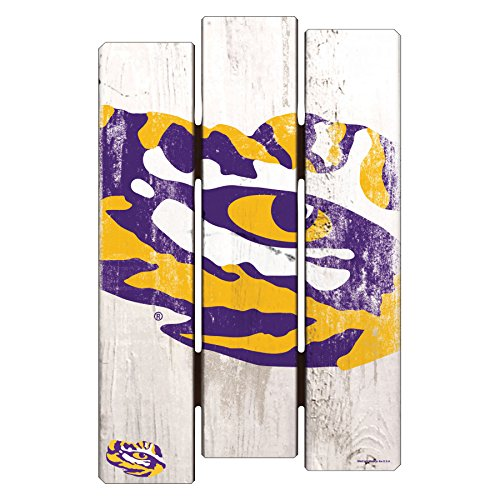 (NCAA LSU Tigers Wood Fence Sign, 11