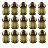 AAF Antique Light Socket Brass, Keyless, Medium Base, Pack of 15