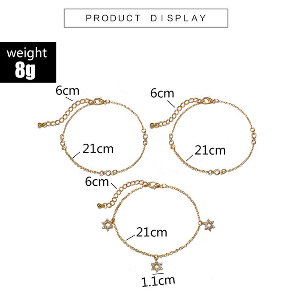 Liraly Anklet for Women Gold Girls Summer Beach Barefoot Chains Foot Bracelet Ankle Chain 2019