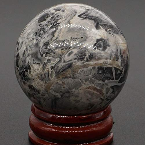 FidgetGear 40MM Wholesale Lots Mix Natural Gemstone Sphere Healing Globe Crystal Ball Silver Leaf Jasper - Globe Gemstone Jasper
