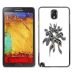 TECHCASE**Cubierta de la caja de protección la piel dura para el ** Samsung Galaxy Note 3 N9000 N9002 N9005 ** Tribal Steel