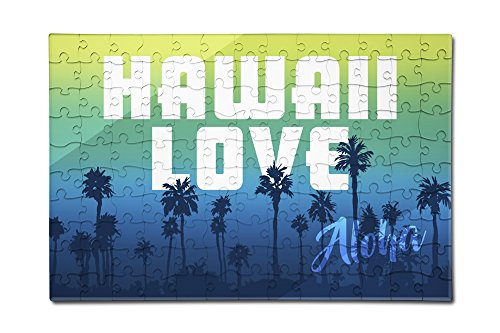 Price comparison product image Hawaii Love - Palm Trees (12x18 Premium Acrylic Puzzle, 130 Pieces)
