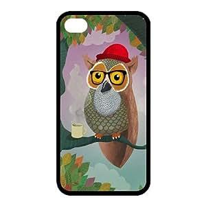 Custom Hipster Owl Back Cover Case for iphone 5c JN5c-602