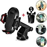 FENGGU T2 One-Hand Automatic Car Cell Phone Mount Holder for Car Air Vent Dashboard Windshield Multi-fonction Tablet Phone Car Holder Cradles for Phone Car iPhone X/8/7/6/6s Plus Samsung Galaxy
