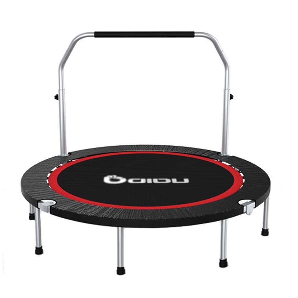 Trampolin, Faltbarer Fitness-Trampolin für Erwachsene, Mini-Türsteher mit verstellbarem Handlauf für Indoor Outdoor - Max Load 300KG