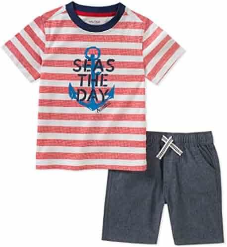 Nautica Boys' Tee with Shorts