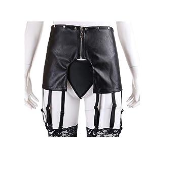 Juego de cinturón de piel sintética para mujer con falda pequeña ...