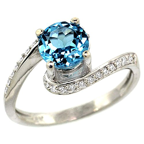 Diamond Accent Bypass Ring - 9